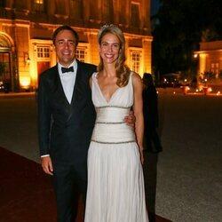 María Anunciata de Liechtenstein y Emanuele Musini en la celebración de su boda