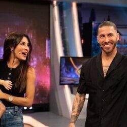 Pilar Rubio y Sergio Ramos con su hijo Alejandro en 'El Hormiguero'