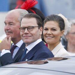 Victoria y Daniel de Suecia en la recepción al Presidente de Alemania y a su esposa