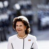 Silvia de Suecia en la recepción al Presidente de Alemania y su esposa en su Visita de Estado a Suecia