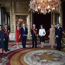 La Familia Real Sueca en la ceremonia de bienvenida al Presidente de Alemania y su esposa por su Visita de Estado a Suecia