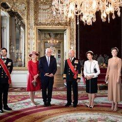 Carlos Gustavo y Silvia de Suecia, Victoria y Daniel de Suecia y Carlos Felipe y Sofia de Suecia con el Presidente de Alemania y su esposa en Estocolmo
