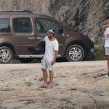 Anita Matamoros y Javier Tudela con sus parejas en Ibiza