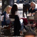Mette-Marit de Noruega con unos amigos en Munich