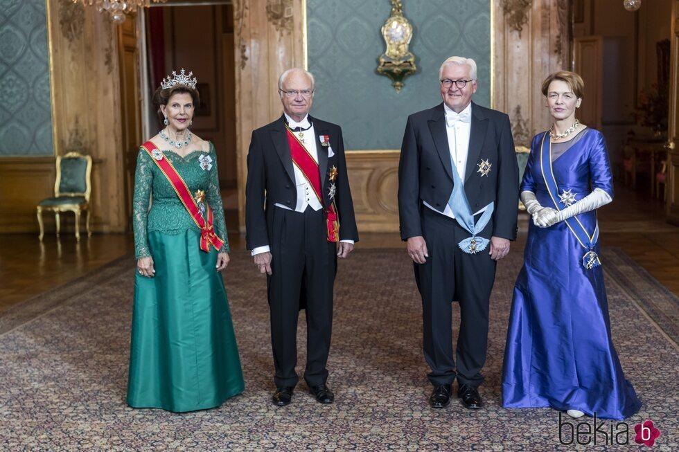 Carlos Gustavo y Silvia de Suecia con el Presidente de Alemania y su esposa en la cena de gala por su Visita de Estado a Suecia