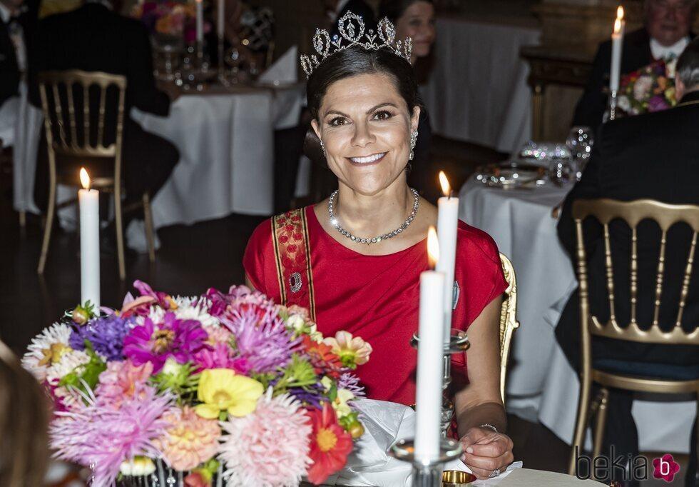 Victoria de Suecia con la Tiara Connaught en la cena de gala al Presidente de Alemania y su esposa
