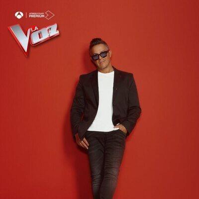 Alejandro Sanz en la foto promocional de 'La Voz'