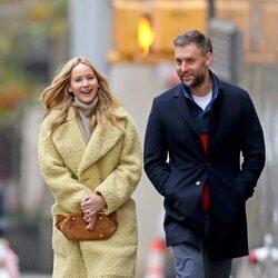 Jennifer Lawrence y Cooke Maroney dando un paseo por Nueva York