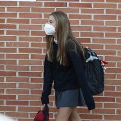 La Infanta Sofía llegando a su colegio para comenzar el curso 2021-2022