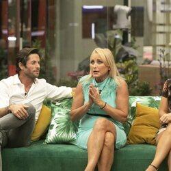 Canales Rivera, Lucía Pariente y Fiama durante la primera gala de 'Secret Story'