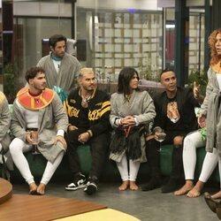 Emmy Russ, los Gemeliers, Canales Rivera, Fiama, Luis Rollán y Sofía Cristo durante la primera gala de 'Secret Story'