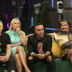 Chimo Bayo, Lucía Pariente, Luis Rollán y Bigote Arrocet durante la primera gala de 'Secret Story'