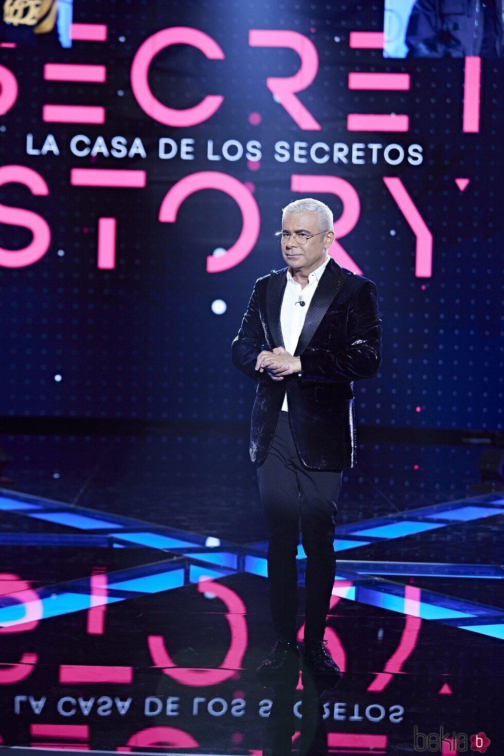 Jorge Javier Vázquez presentando la primera gala de 'Secret Story'
