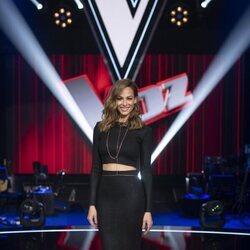 Eva González en la presentación de 'La Voz 2021'