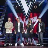 Luis Fonsi, Alejandro Sanz, Pablo Alborán y Malú en la presentación de 'La Voz'