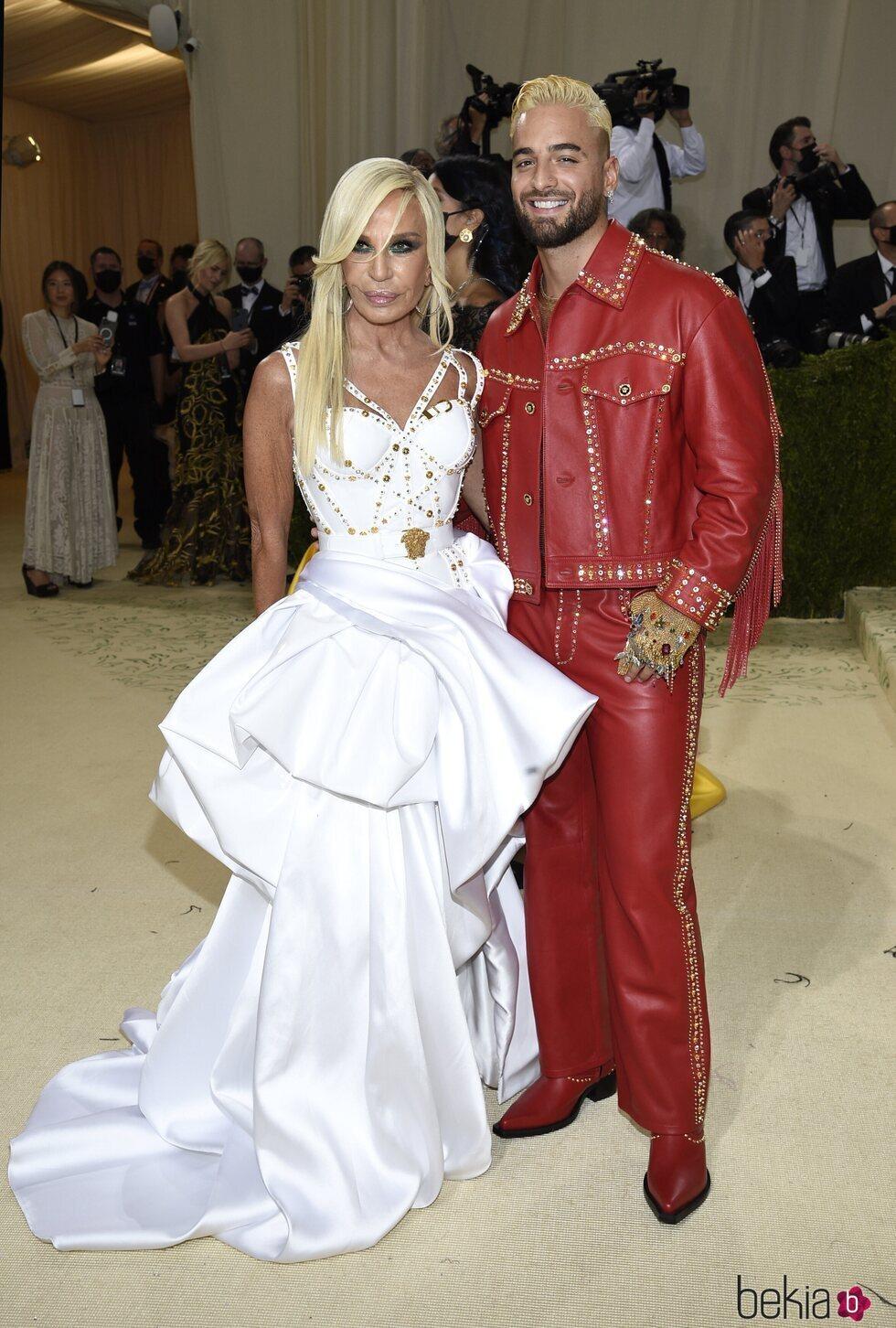 Donatella Versace y Maluma en la MET Gala 2021