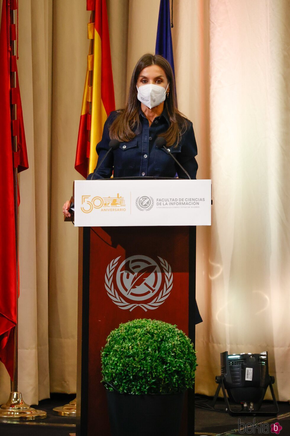 La Reina Letizia en su discurso en el 50 aniversario de la Facultad de Periodismo de la Universidad Complutense