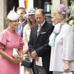 Los Condes de Wessex con la Princesa Michael de Kent en la boda de Flora Ogilvy y Timothy Vesterberg