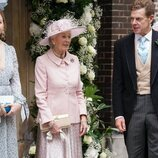 Alexandra de Kent y James Ogilvy en la boda de Flora Ogilvy y Timothy Vesterberg