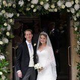 Flora Ogilvy y Timothy Vesterberg en su boda