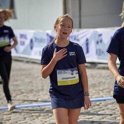 Josefina de Dinamarca tras participar en la Royal Run