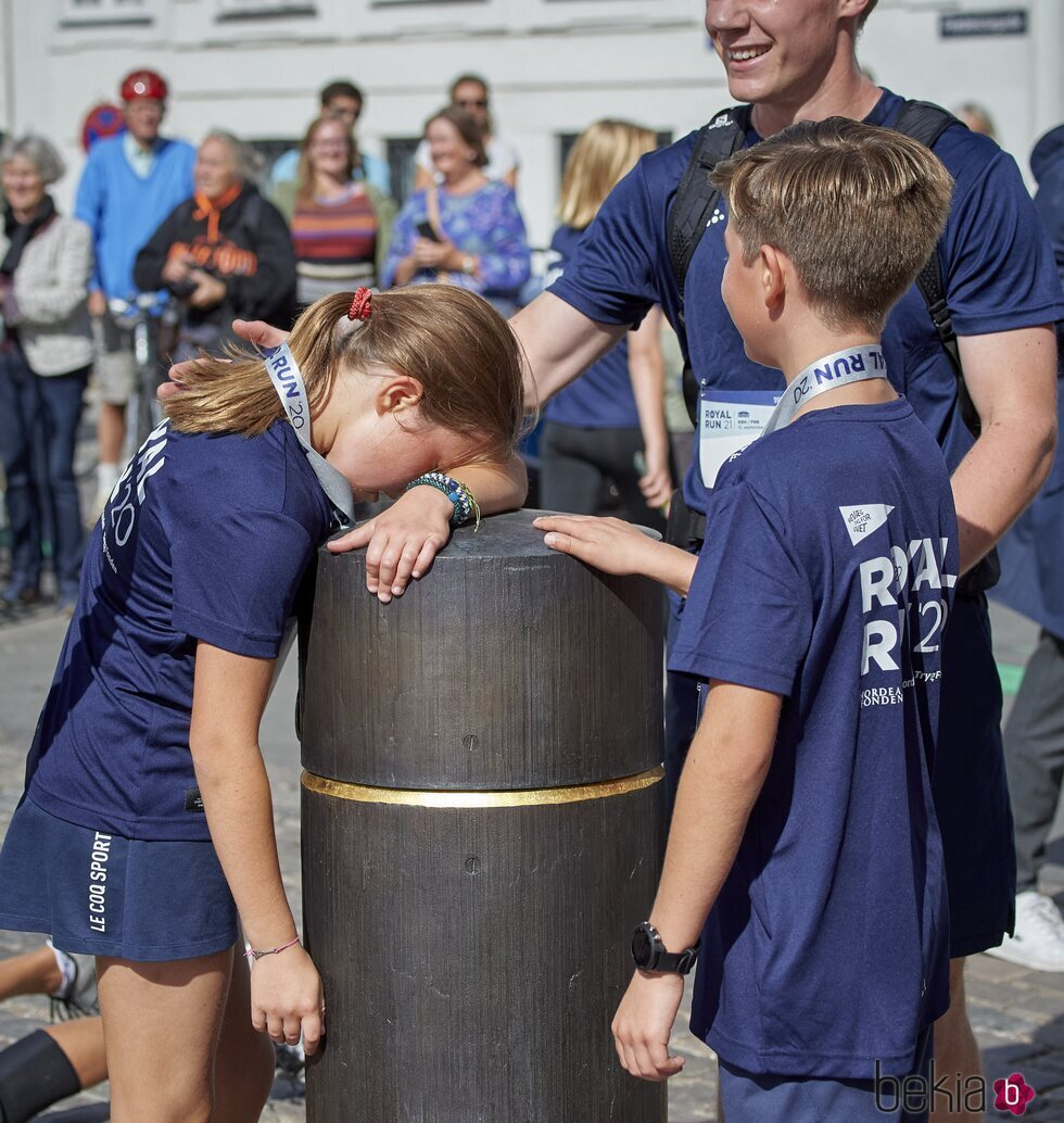 Josefina de Dinamarca, agotada tras participar en la Royal Run