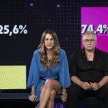 Cristina Porta y Chimo Bayo antes de la expulsión en la segunda gala de 'Secret Story'