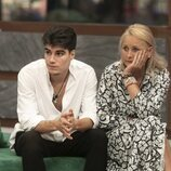 Julen y Lucía Pariente durante la segunda gala de 'Secret Story'