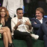 Sofía Cristo, Miguel Rollán y Bigote Arrocet durante la segunda gala de 'Secret Story'