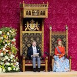 Guillermo Alejandro de Holanda da su discurso en el Prinsjesdag 2021 junto a Máxima de Holanda