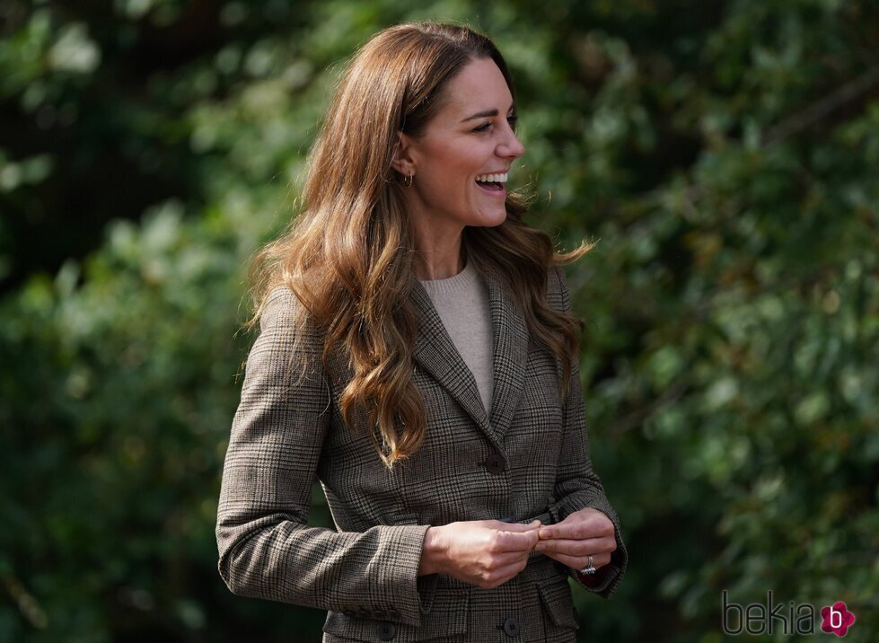 Kate Middleton en su visita al RAF Air Cadets' Windermere Adventure Training Centre de Cumbria