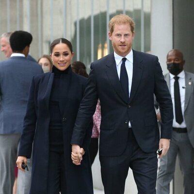 El Príncipe Harry y Meghan Markle en el One World Trade Center de Nueva York