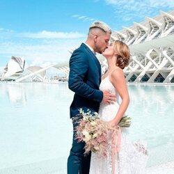Yoli Claramonte y Jorge Moreno el día de su boda