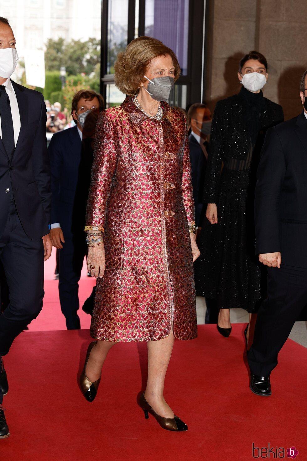 La Reina Sofía en el estreno de 'La Cenerentola' en el Teatro Real