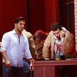 David Bustamante y Christian Sánchez en el musical 'Ghost'