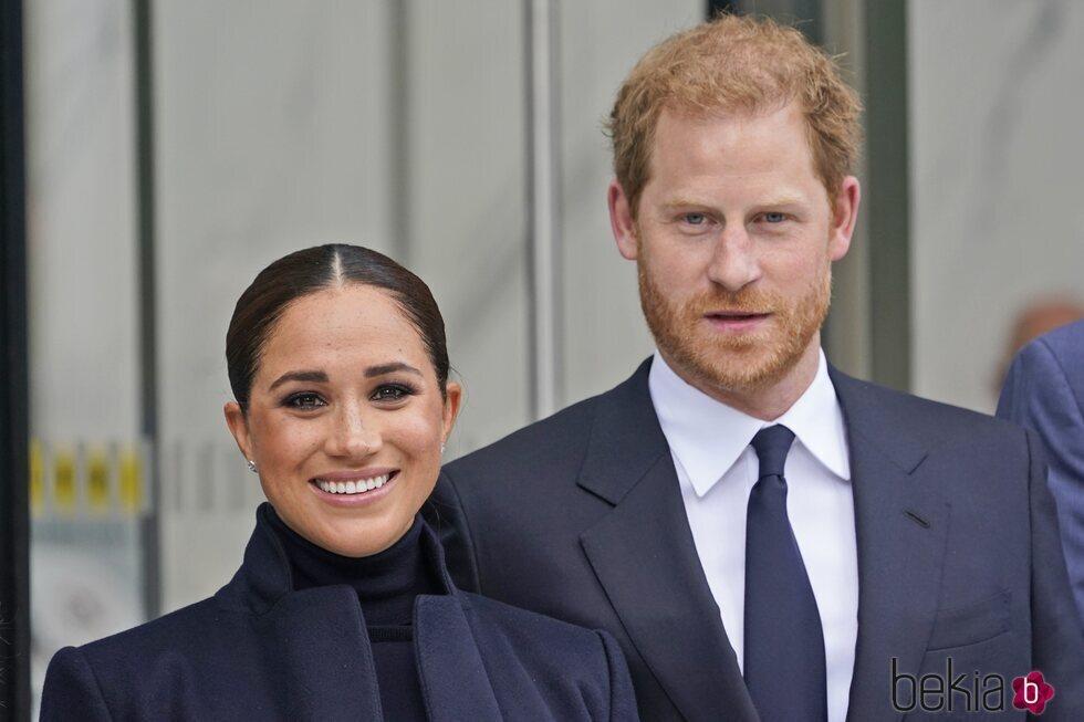 El Príncipe Harry y Meghan Markle en su vuelta a la vida pública en Nueva York