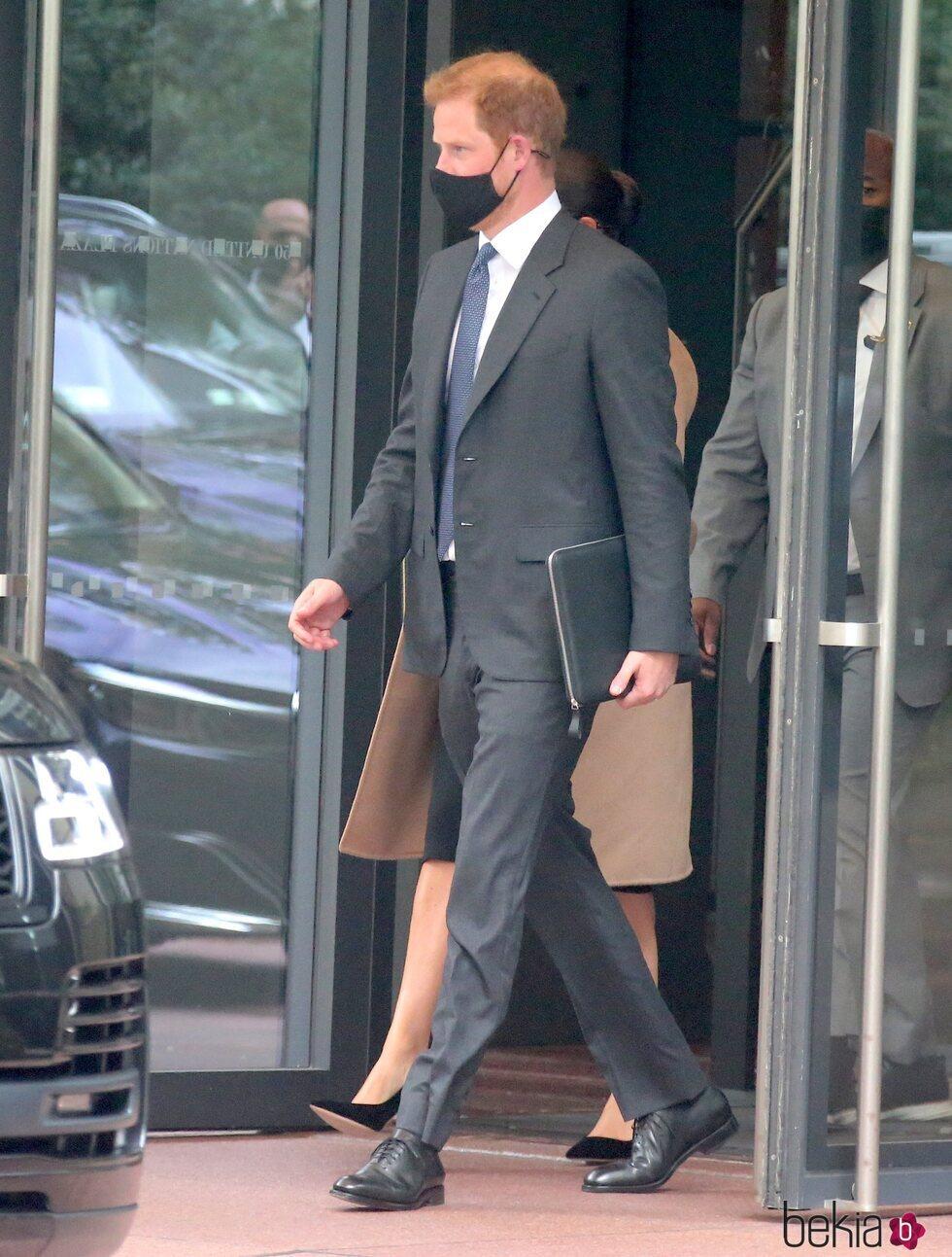 El Príncipe Harry a la salida de un acto en Nueva York