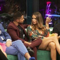 Miguel Frigenti y Cristina Porta durante la gala 3 de 'Secret Story'