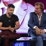 Miguel Frigenti y Bigote Arrocet en la sala de expulsión durante la gala 3 de 'Secret Story'