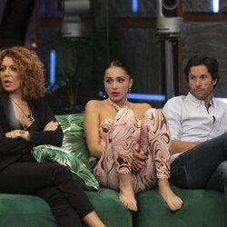 Sofía Cristo, Sandra Pica y Canales Rivera durante la gala 3 de 'Secret Story'