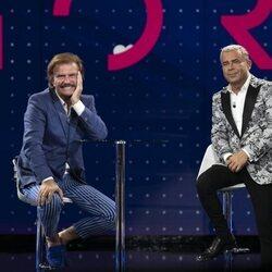 Bigote Arrocet y Jorge Javier Vázquez durante la gala 3 de 'Secret Story'