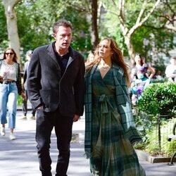 Ben Affleck y Jennifer Lopez en Madison Square Park