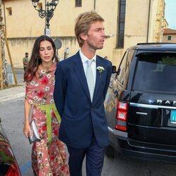 Christian de Hannover y Sassa de Osma en la boda de Marie Astrid de Liechtenstein y Ralph Worthington