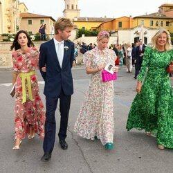 Christian de Hannover, Sassa de Osma, Ekaterina de Hannover y Chantal Hochuli en la boda de Marie Astrid de Liechtenstein y Ralph Worthington