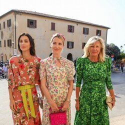 Sassa de Osma, Ekaterina de Hannover y Chantal Hochuli en la boda de Marie Astrid de Liechtenstein y Ralph Worthington