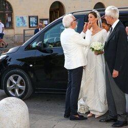 Marie Astrid de Liechtenstein en su boda con Ralph Worthington