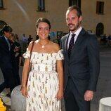 Alejandra de Luxemburgo y Félix de Luxemburgo en la boda de Marie Astrid de Liechtenstein y Ralph Worthington