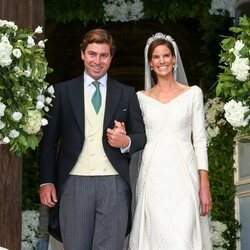 Marie Astrid de Liechtenstein y Ralph Worthington en su boda