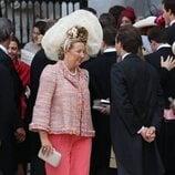 Cristina de Borbón-Dos Sicilias en la boda de Jaime de Borbón-Dos Sicilias y Lady Charlotte Lindesay-Bethune