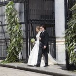 Jaime de Borbón-Dos Sicilias y Lady Charlotte Lindesay-Bethune tras su boda